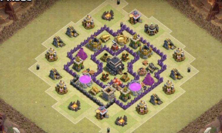 Diseño de Aldeas con Ayuntamiento a Nivel 6 en Clash of Clans